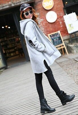 Women's Oversized skull logo Autumn Maternity Clothing HIP HOP hoodies cape Coat