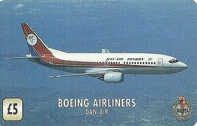 Rare / Carte Telephonique - Avion Boeing Airliners Dan Air Fly / Paper Phonecard