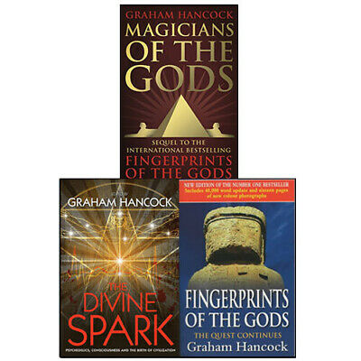 Magicians of the Gods Graham Hancock Collection 3 Books Set The Divine Spark NEW