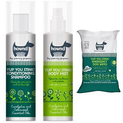 Long Paws Hownd Yup You Stink! Dog Conditioning Shampoo Body Mist Wipes 250ml