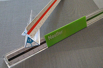 NESTLER College 66213 USA Japan Dreikant Reduktionsmaßstab Lineal 12 Zoll Inches