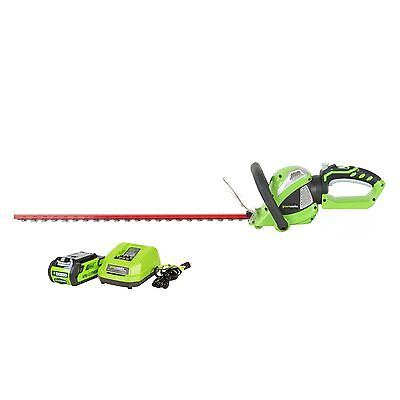 Greenworks 22262 - G-MAX 24 Inch 40V Cordless Hedge Trimmer W/ Battery & Charger
