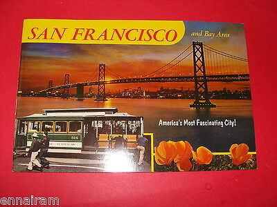 San Francisco & Bay Area Fascinating City color photo book c. 1960 souvenir CA