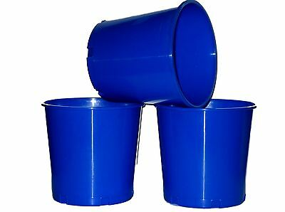 10 Blue Offering Buckets, Ice Buckets Holds 176 Ounces Mfg. USA Lead Free