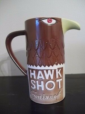 VINTAGE 1970 SMIRNOFF VODKA HAWK SHOT FIGURAL GLASS/MUG TIKI STYLE eagle Japan