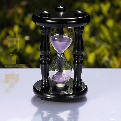 15 Minutes Wood Sand Glass Hourglass Timer Clock Home Office Decor Gift
