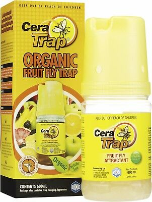 CERA TRAP - ORGANIC MEDITERRANEAN FRUIT FLY TRAP No Pesticides Insecticides