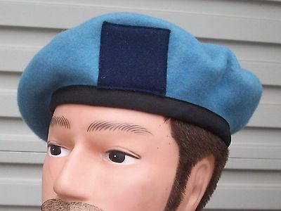 AVIATION CORPS BLUE WOOL BERET - GENUINE AUSTRALIAN ARMY 1970-80's DATED