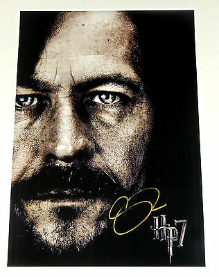 Gary Oldman Signed 12X18 Harry Potter 7 Movie Poster Sirius Black Radcliffe 3