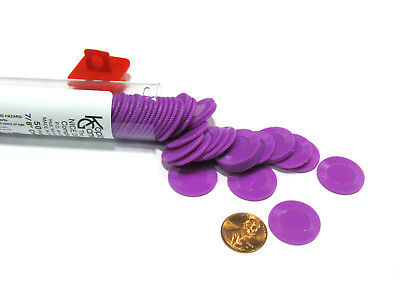 "Set of 50 7/8"" Easy Stacking Plastic Mini Playing Poker Chips - Purple"