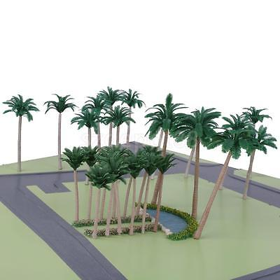 20 pcs Model Train Palm Trees Forest Beach Diorama Scenery HO OO Scale 10CM