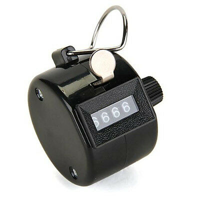 4 Digit Number Manual Handheld Tally Mechanical Counter Golf Stroke Hand Counter