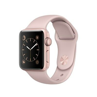 "Apple Watch Sport 38Mm Rose Gold Aluminium Pink Sand Sport Band ""ausluck"""