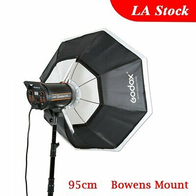 "US Godox Octagon Softbox 37"" 95cm Bowens Mount for Studio Strobe Speedlite"