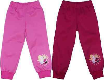 Girls trousers Disney Frozen tracksuit bottom pink fuchsia 4-8 years