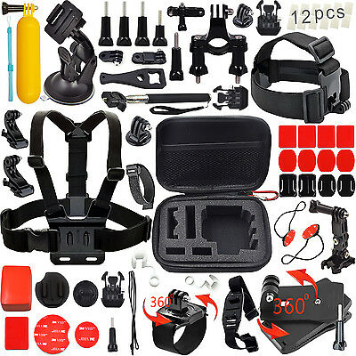 GoPro Accessories Outdoor Sports Bundle Kit for GoPro Hero 4/3+/3/2/1 Cameras Le
