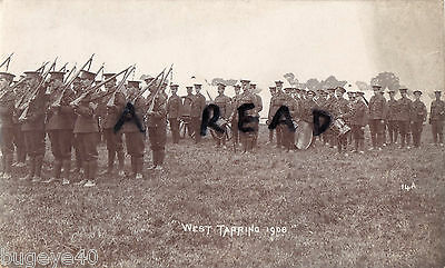 Soldier Group Middlesex Regiment Territorials annual camp West Tarring 1908