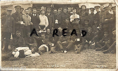 Soldier Group East Surrey Regiment Territorials annual camp Lewes 1910