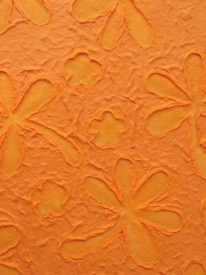 Flower Marigold Lace Embossed Mulberry paper sheets Scrapbook, photoalbum Cover