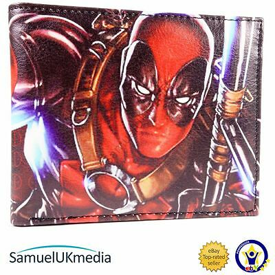 New! Marvel Deadpool With Weapons Fighting Bi-Fold Wallet