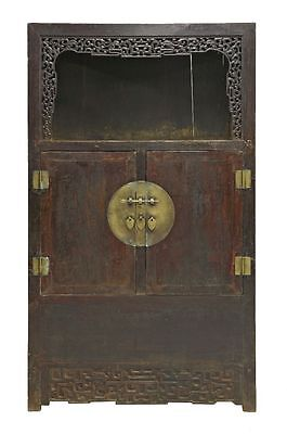 A 19th Century Chinese Hardwood Display Cupboard, Qing Dynasty