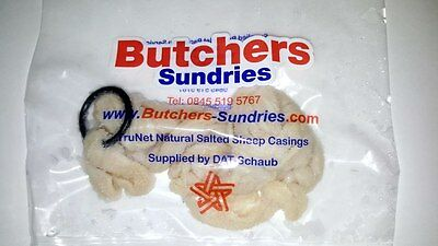 Natural SHEEP Sausage Casings Skins - 24/26mm - Small Breakfast Sausages