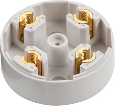 20 Amp 4 Screw Terminals 60mm dia Plastic PVC Electrical Connection Junction Box