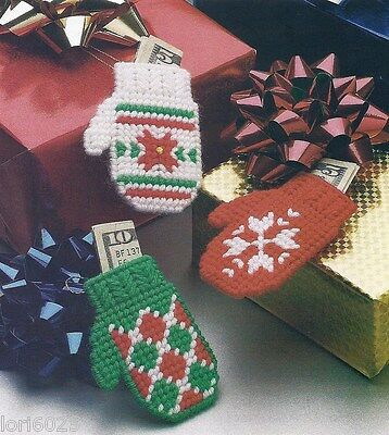 christmas gift mittens orns or pkg ties holds moneyplastic