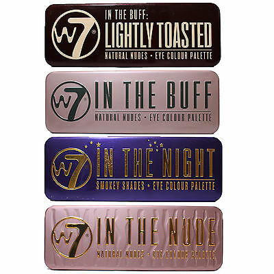 W7-In The Buff,nude,night,up In Smoke,toasted,eye Shadow Colour Palette 100% Gen