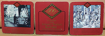 Vhtf Johnnie Walker Red Label Vtg Set Of Three Cork Coasters