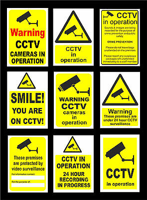 Warning CCTV Security Signs - All Sizes & Materials, Crime Smile, 24 Hour Camera