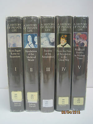A History of Private Life by Philippe Aries & Georges Duby, Lot of 5 Books