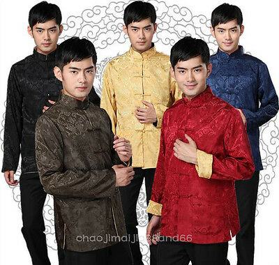Chinese traditional Double - sided Kung fu martial arts Shirt Jacket coat Men's