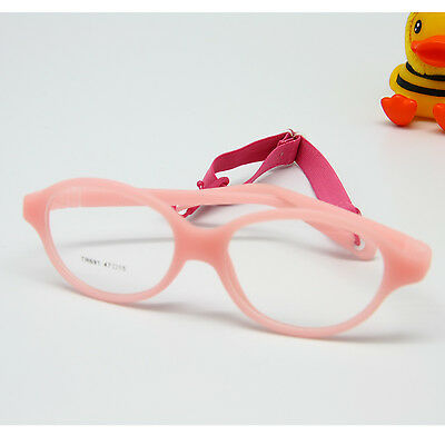 1930cc8ae4 Size 47-15 Kids Glasses Bendable No Screw Children Safe Glasses Frame with  Strap