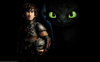"""How to Train Your Dragon 1 2 Wall Movie 40""""x24"""" Poster H29"""