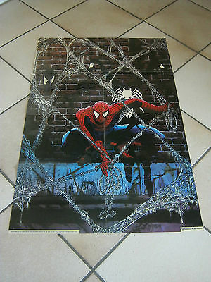 MANIFESTO,SUPER EROE SPIDER MAN UOMO RAGNO,1991 MARVEL,PLAY PRESS,McFARLANE ART