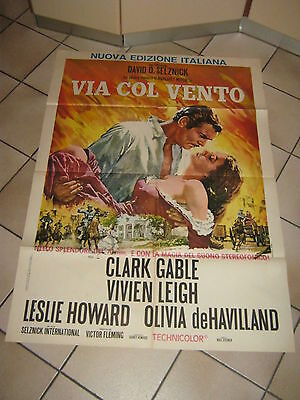 MANIFESTO,Via col vento,Gone with the Wind,Clark Gable,Vivien Leigh,V.Fleming