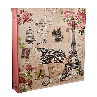 Arpan 6x4 Photo Album for 500 Photos - Pink Vintage Travel - FL500