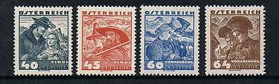 STAMPS AUSTRIA 1935  COSTUMES 40g, 45g, 60g &  64g  (MINT- HINGED)  lot A226XX