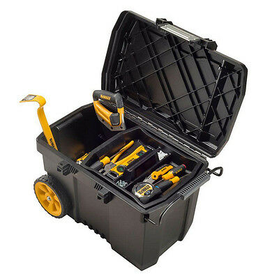 291e441e405 Dewalt 15 Gal. Mobile Rolling Tool Box Storage With Removable Organizer Tray