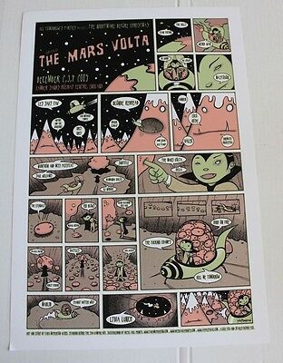 Mars Volta London 2005 Concert Poster by Tara McPherson super Limited Edition
