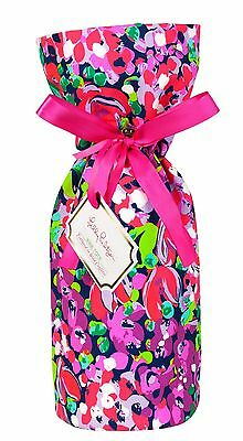 LILLY PULITZER Wine Tote WILD CONFETTI Pink Gold Logo Hostess Party Gift Bag
