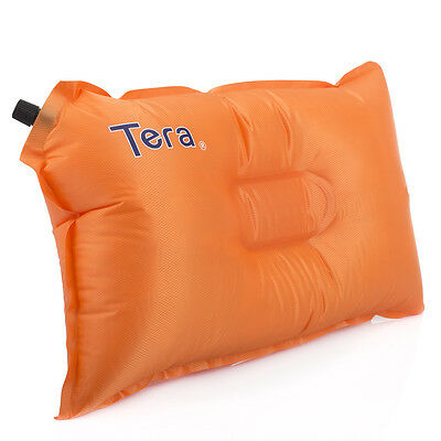 New Self-inflatable Air Pillow Bed Cushion for Travel Hiking Camping Rest Orange