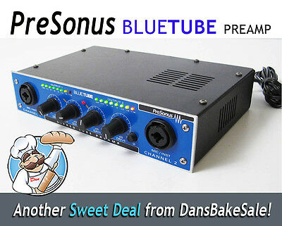 PreSonus BlueTube Stereo Tube Pre Amp with Power Supply - Made in the USA