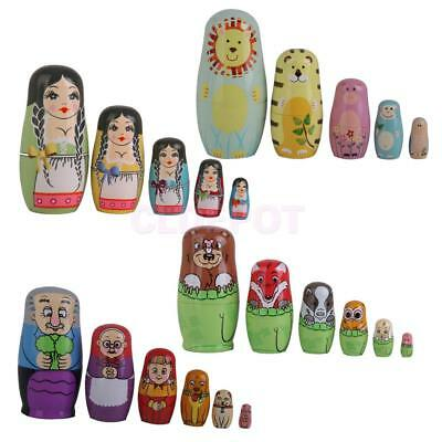 1Set of Hand Painted Wooden Vintage Nesting Dolls Russian Dolls High Quality