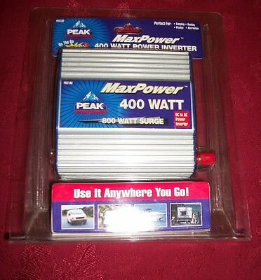 Peak MaxPower 400 watt Power Inverter- New, Model#PKC1AU
