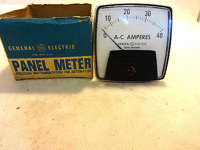 New In Box General Electric 50-162141Lsnp2 A-C Amperes Panel Ampermeter