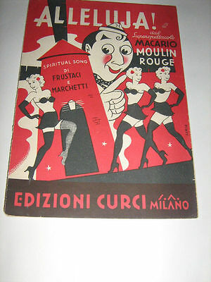 Spartito originale - ALLELUJA MACARIO MOULIN ROUGE 1946