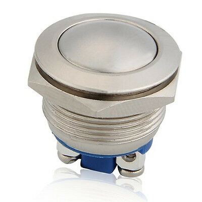 Metal Boat 12V Switch Push Button Latching Momentary 19mm Self-Locking
