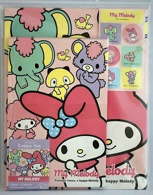 """Sanrio """"My Melody"""" Letter Set & Stickers, New Made in Japan"""